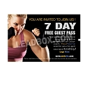 "Guest Pass Martial Arts  -(4.25""w x 2.75""h) -Design 10"