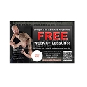 "Guest Pass Martial Arts 6 -(4.25""w x 2.75""h)"
