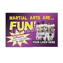 "Guest Pass Martial Arts  -(4.25""w x 2.75""h) -Design 9"
