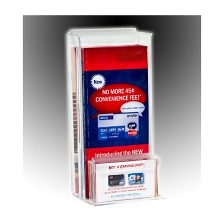 Outdoor brochure holders many styles leadbox durable tri fold literature holder with business card pocket colourmoves