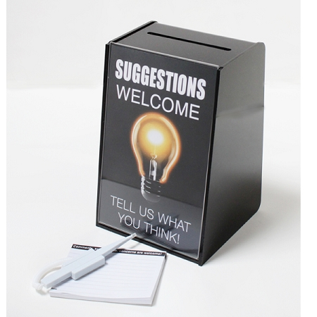 Employee Suggestion Box Set Comes With Comment Box