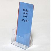 Clear Acrylic Brochure Holder for 4-1/8w literature