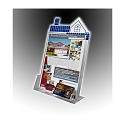 Clear Acrylic Roof Top Sign Holder with Business Card Holder for 8.5 x 11Literature