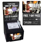2 in 1 Registration Box Kit (Pack of 25 and 2500 Guest Passes) (Female on Treadmill)
