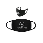 2 Layer Black Face Mask - Customizable - FREE SHIPPING, FREE IMPRINT