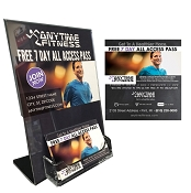 5x7 Display Holder - 20 PACK with 1000 Passes  (Man on treadmill design)