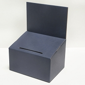 Cardboard Ballot and Lead Box, Dark Blue, Medium, Matte Finish