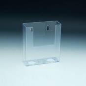 Clear Plastic Add-On Pocket for Carboard boxes. Holds up to 4.25 literature