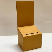 Yellow Cardboard Ballot Entry Box