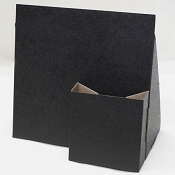 Black Cardboard Sign Holder with 4 x 4 brochure pocket