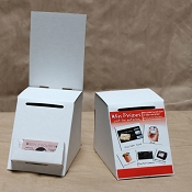 Low Cost Ballot Box with Removable business card pocket and Header - OUT OF STOCK