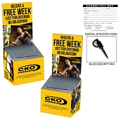 CKO FREE WEEK ENTRY BOX KIT (Package of 25 Boxes, Pens, Entry Pads)