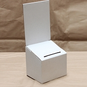 White Cardboard Countertop donation box