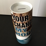 Donation Canister with Custom Graphics