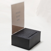 Large  Black Entry Box Black with 8.5w x 11 Display Area