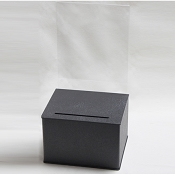 Large Countertop Black Suggestion Box  8.5w x 11; Display Area