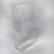 Outdoor Clear Acrylic -Tri-Fold Brochure Holder - with Peel & Stick tape mount