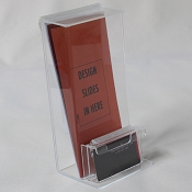 Clear Plastic Outdoor Tri-Fold Brochure Holder w/ Business Card Pocket  Peel & Stick