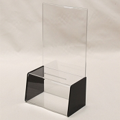 Deluxe Acrylic Contest or Suggestion Box with a 8.5 x 11 display area