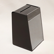 Black  Acrylic Suggestion Box,  Medium Size with 5.5 x 8.5 Sign Holder