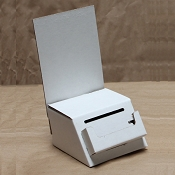 Mini White Entry box with detachable pocket and header