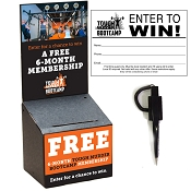 Tough Mudder Black Cardboard Registration Box - 20 PACK