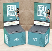 UFC Gym Marketing Cardboard Entry Box Kit