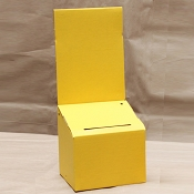 Yellow Cardboard Ballot Box