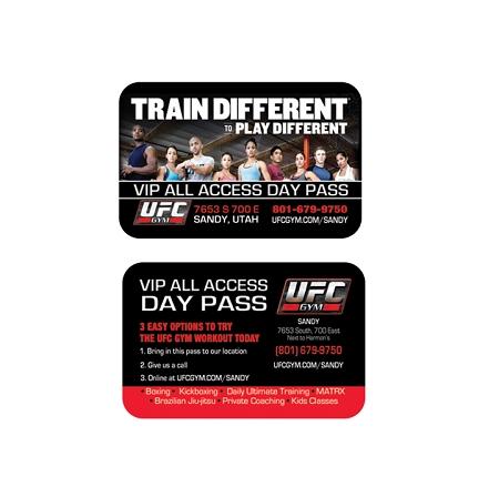 ufc gym plastic credit card vip passes qty 500 - Plastic Credit Card