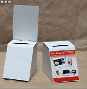 Low Cost Ballot Box with removable Header (artwork decal not included) 25 PACK -FREE SHIPPING
