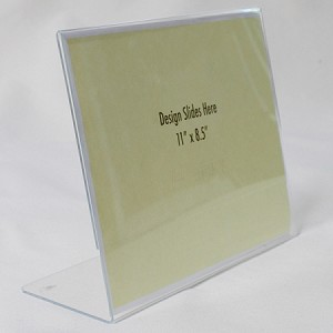 "11""w x 8.5""h Clear Acrylic Ad Frame/Sign Holder"