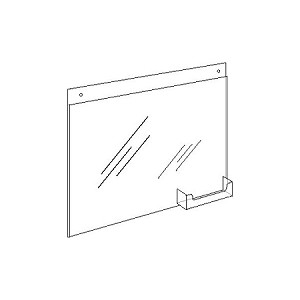 "11""w x 8.5""h Wall-Mount Ad Frame/Sign Holder with Pocket"
