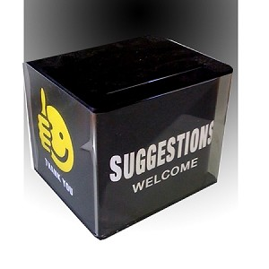 Suggestion Box with Lock, Security Pen, comment pads