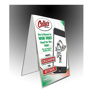 Clear Plastic Table Tent X Sign And Menu Display - Restaurant table tents and menu sign displays