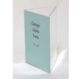 Clear Plastic Table Tent X Sign And Menu Display Sided - Plastic table tent holders