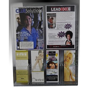 Clear Acrylic Wall Mounted Sign & Brochure holder