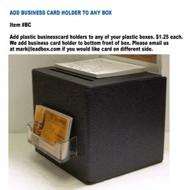 Business Card Holder For Cardboard or Plastic Ballot Box