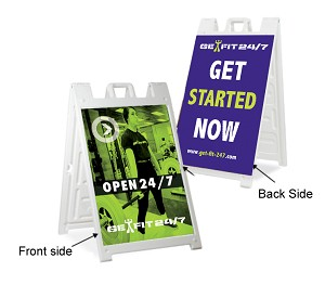 Out Door Sidewalk Sandwich Board Sign