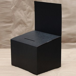 Large Black Countertop Ballot Box