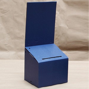 Countertop blue corrugated entry box