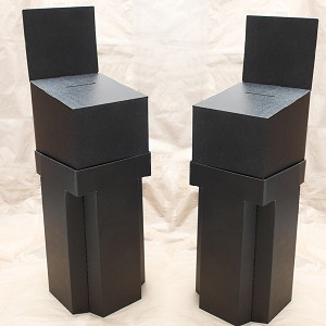 Black Floorstanding cardboard contest box