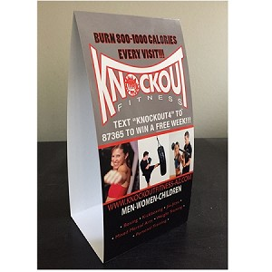 Custom Designed Cardboard Table Tent  Cards