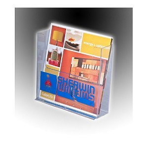 Clear Acrylic Brochure Holder for 7.5w Literature