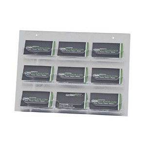 Clear Acrylic Wall Mount 9-Pocket Business Card Holder