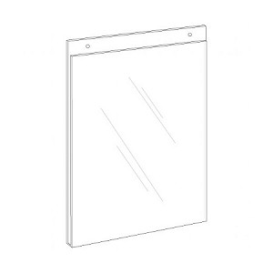8.5;w x 11h Clear Plastic Wall Mount Ad Frame/Sign Holder