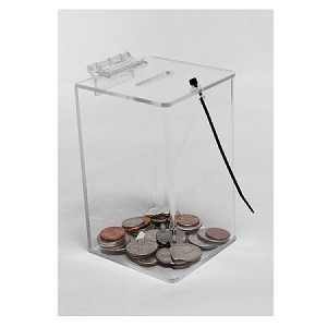 Clear Acrylic Locking Coin Box