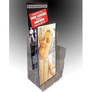 Clear Acrylic 2-Tier Brochure Holder for 4.5 Literature