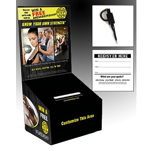 GGB3 - Pre-Designed Gold's Gym Cardboard Promo Box Kit (20 PACK)