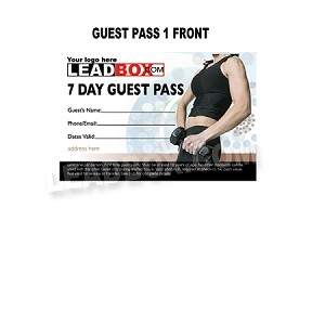 Guest Passes  Health and Fitness Gyms  - Design 1