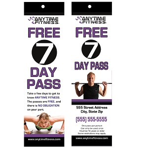 Hang Tags for Anytime Fitness (QTY 1000)